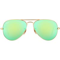 Ray Ban Aviator Flash Lenses RB3025 112/19 55-14 polished gold/green