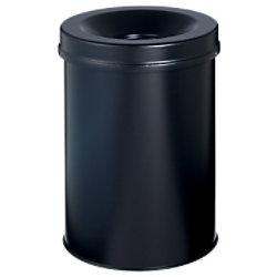 DURABLE Papierkorb Schwarz 15L Metall 35,7 cm