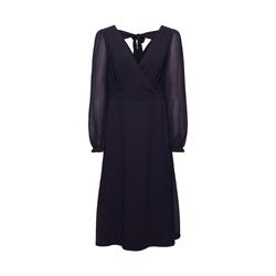 Esprit Collection Midikleid Recycelt: Chiffon-Kleid mit Rückendetail blau 40