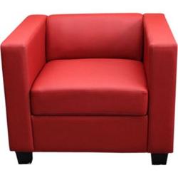 Sessel Lille ~ Kunstleder, rot