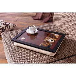 HomeLiving Tablett Kaffee