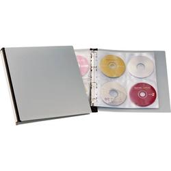 Durable CD/DVD Ordner 96 CDs/DVDs/Blu-rays Schwarz, Grau 12 St. 527701