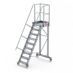 Altrex Podesttreppe fahrbar 60° 9 Stufen