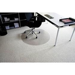 Rollt & Schützt Bodenschutzmatte für Teppichböden rund, 90,0 x 90,0 cm