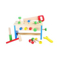 Small Foot Spielwerkzeug Werkzeugkasten und Werkbank 2 in 1