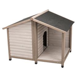 Trixie Hundehütte Lodge grau, Größe: M-L / Maße: 130 x 100 x 105 cm