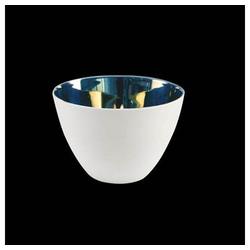 Goebel Windlicht Kaiser Porzellan Silber Weiß