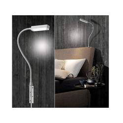 FISCHER & HONSEL Bettleuchte, 2er SET LED Leselampen dimmbar Bett-Lampen & Leseleuchten für Schlafzimmer Wohnzimmer Couch Sofa