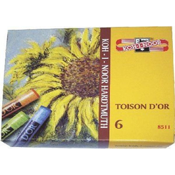 KOH I NOOR 8511 Toison d'Or Pastellkreide 6Farb.