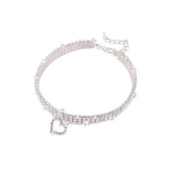 TOPMELON Tier-Halsband, Legierung, Hundehalsband, Kristallkragen & Glänzender Heller Kristalldiamant weiß L