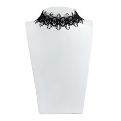 Damen Hals Kette Halsband Punk Gothic Collier Spitze schwarz - Blumen