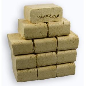 mumba - Probierset Mischholzbriketts eckig, 30kg Holzbriketts, Holz-Briketts aus Mischholz