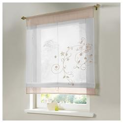 Raffrollo Bestickt Raffgardine Vorhang Gardine Fenstervorhang Scheibengardinen, i@home, mit Schlaufen 60 cm x 120 cm