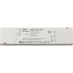 Gira 036500, Tronic-Trafo 20 - 105 W flach Elektronik