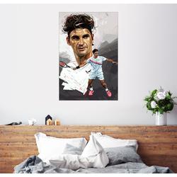 Posterlounge Wandbild, Roger Federer 100 cm x 150 cm