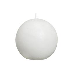 Bolsius Kugelkerze Rustik in weiß, 8 cm