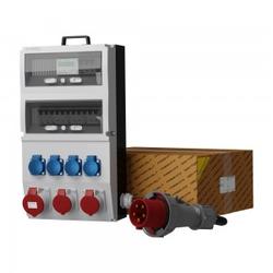 Stromverteiler eXT-S/FI SKH 32A 2x16A 4x230V Stromzähler Kabel Doktorvolt 2315