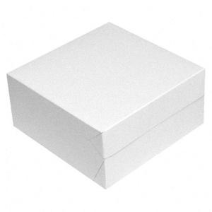 1-PACK Kuchenkarton - Tortenkarton, 28x28x10cm, weiß, 50 Stück