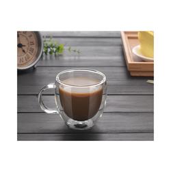 Gotui Becher, Doppelwandiges Glas Kaffeebecher Isolierte Tasse mit Griff