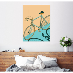 Posterlounge Wandbild, Isometrisches Fahrrad 30 cm x 40 cm