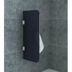Aloni Urinal Aloni Glas Trennwand Urinal Schamwand Rauchglas, ESG-Sicherheitsglas mit Nano-Beschichtung