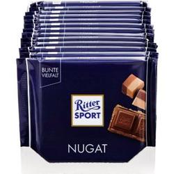 Ritter Sport Nugat Schokolade 100 g, 13er Pack