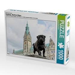 Hamburg - Stadt der Möpse Lege-Größe 64 x 48 cm Foto-Puzzle Bild von Ole Dodeck Puzzle