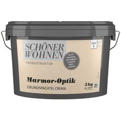 SCHÖNER WOHNEN FARBE Spachtelmasse Marmoroptik Grundspachtel crema, 5 kg natur
