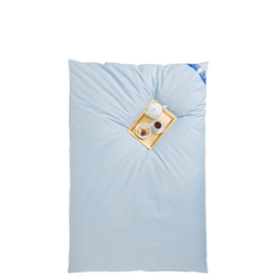 Federbettdecke, Leon, RIBECO, Füllung: 90% Federn, 10% Daunen blau 135 cm x 200 cm