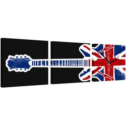 Conni Oberkircher´s Bild English Guitar, Gitarre (Set), mit dekorativer Uhr