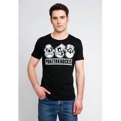 LOGOSHIRT T-Shirt mit Panzerknacker-Frontprint schwarz L