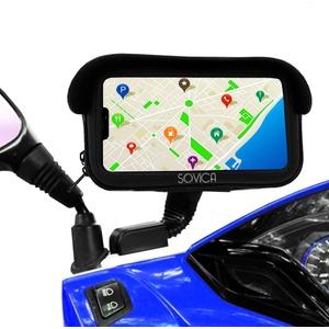 """Handyhalterung Motorrad wasserdicht gültige schutzhülle für Smartphones bis 7,2"""" antiref-Visier unzerbrechliche Befestigung am Rückspiegel Motorrad handyhalterung handyhalter Motorrad"""