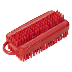 Haug Nagelbürste, doppelt, Nagelbürste aus Polyester, Komplettfarbe: rot