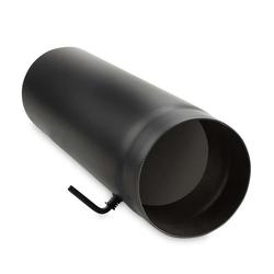 Ø 160 mm - Ofenrohr 50 cm mit Drosselklappe Schwarz