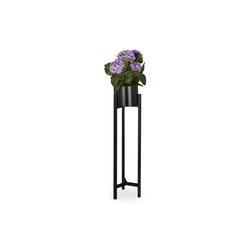 relaxdays Blumenständer Blumentopf mit Ständer schwarz
