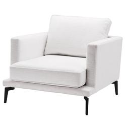 Casa Padrino Luxus Sessel Weiß / Schwarz 91 x 99 x H. 82 cm - Wohnzimmer Sessel - Luxus Wohnzimmer Möbel