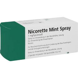NICORETTE Mint Spray 1 mg/Sprühstoß 2 St.