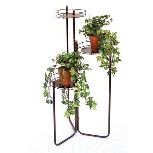 DanDiBo Blumentreppe Metall 90 cm Blumenständer mit 3 Ablagen Art.2A Blumenregal Blumensäule Pflanzenständer Pflanzentreppe