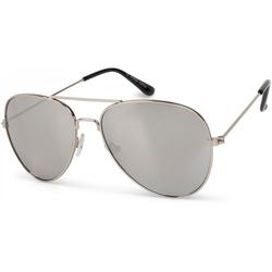 styleBREAKER Sonnenbrille Kinder Pilotenbrille Verspiegelt silberfarben