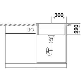 Blanco Etagon 6 anthrazit + Excenterbetätigung + InFino