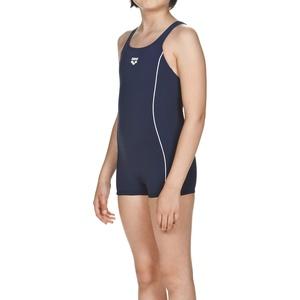 ARENA Mädchen Badeanzug mit Bein Finding, Navy-White, 128