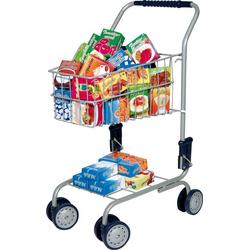 Bayer Spiel-Einkaufswagen Einkaufswagen, gefüllt, 60-tlg.