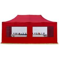 TOOLPORT Faltpavillon 3 x 6 m inkl. Seitenteile rot (582022)
