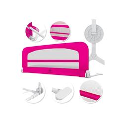 KESSER Bettschutzgitter, Babybettgitter Kinderbettgitter klappbar tragbar Kinderbett Rausfallschutz Bett & Boxspringbett 42cm Höhe Gitter für Babys und Kinder rosa 150 cm