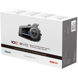 Sena 10C Evo Camera Bluetooth Communication System Single Pack, black, Größe One Size