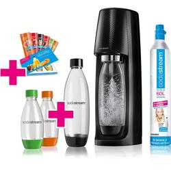 SodaStream Wassersprudler Easy, (Set, 11-tlg., 1 Wassersprudler, 1 CO2-Zylinder, 1 PET-Flasche (1 L), 2 PET-Flaschen (0,5 L), 6 Sirupproben)