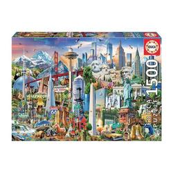 Educa - Wahrzeichen Amerika 1500 Teile Puzzle