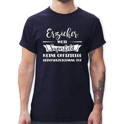 Shirtracer T-Shirt Erzieher weil Superheld keine offizielle Berufsbezeichnung ist - Sonstige Berufe - Herren Premium T-Shirt S