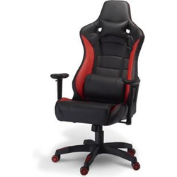 Bürostuhl Garry Gamer Stuhl schwarz + rot Schreibtisch Drehstuhl Chef Sessel