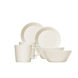 IITTALA Geschirr-Set iittala Teema Frühstücksset, weiß, 6-tlg. (6-tlg), vitro-porzellan